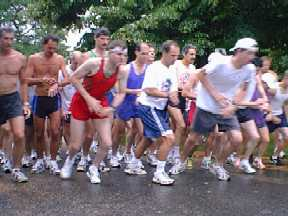 The start of the 3.8 mile race on July 15, 2000
